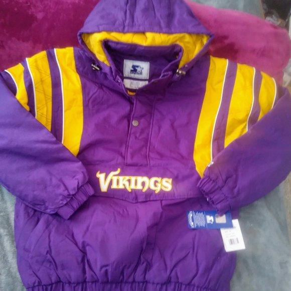 STARTER Other - Vintage Starter Half Zip Pullover Jacket Vikings